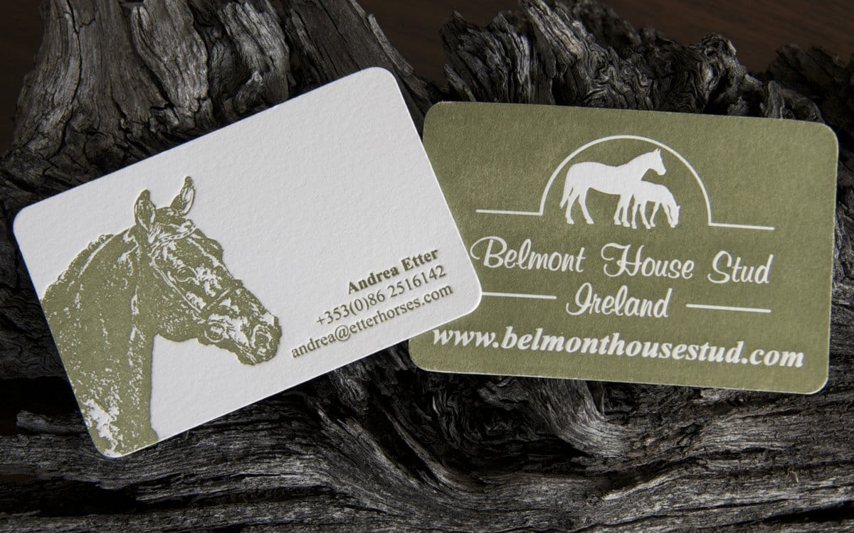 Best of luck to magva design letterpress belmont house stud letterpress business card by magva design letterpress reheart Image collections
